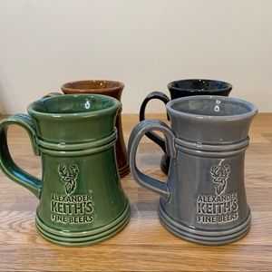 Other - Set of 4 Alexander Keith's Beer Tanker Mugs